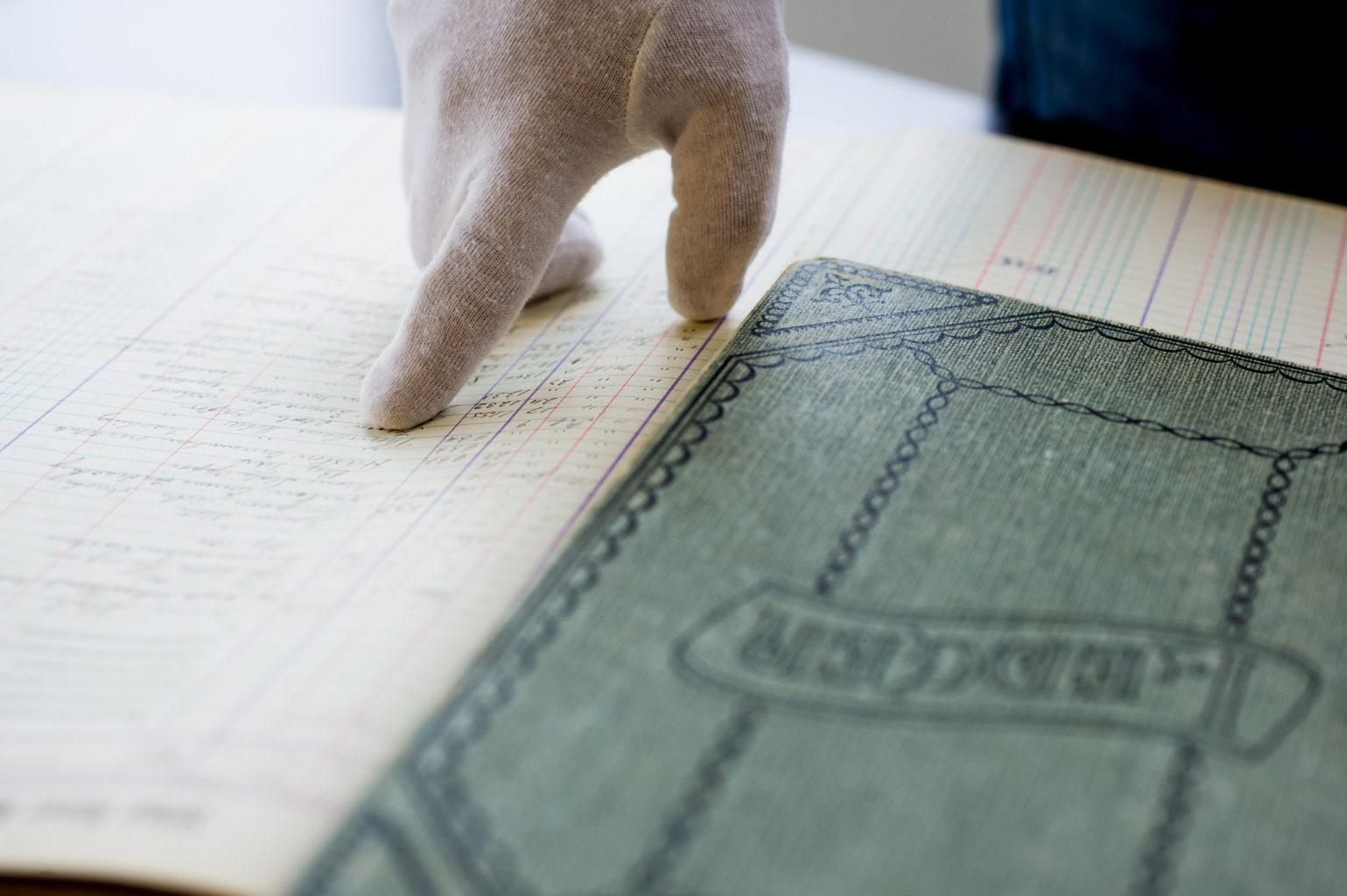 Historian examine an historical document.