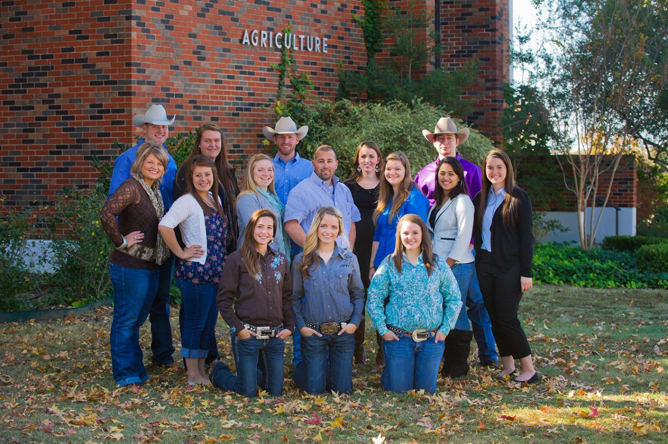 group of ag students