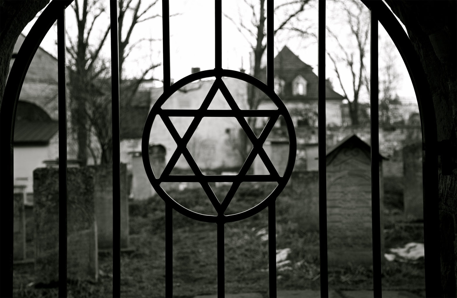 Judaism. Jewish Star of David. Jude Cemetery.Ghetto. Holocaust. Auschwitz