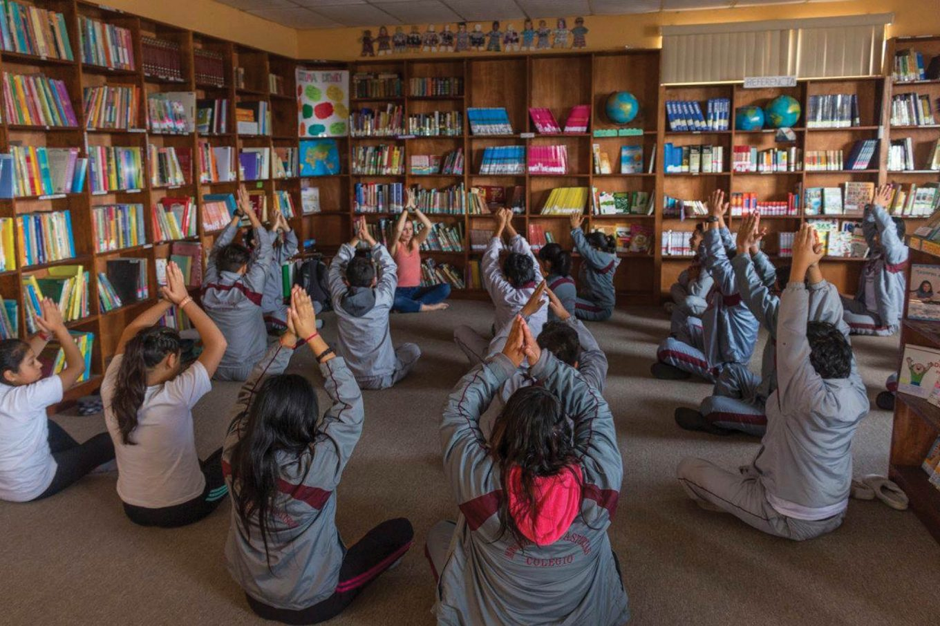 students Yoga pose