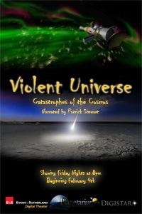 violent universe show at planetarium theater