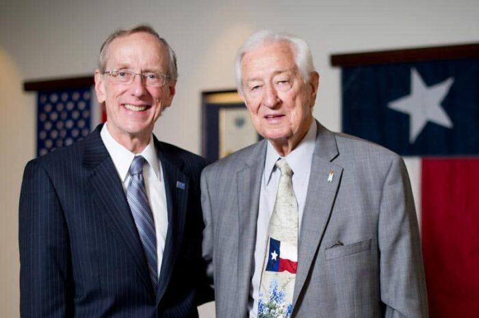 Ralph Hall with Dr. Dan R. Jones