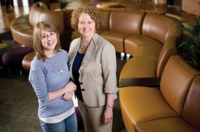 Sara Cushing and Gail Chandler