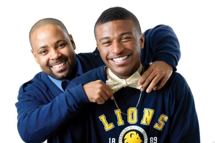 Zachary Shirley and student Antonio (T.J.) Davis
