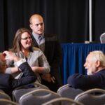 Karl Clauss with A&M-Commerce President Dan R. Jones, ETWMP Student Coordinator Haley Hasik and intern Nick Sprenger
