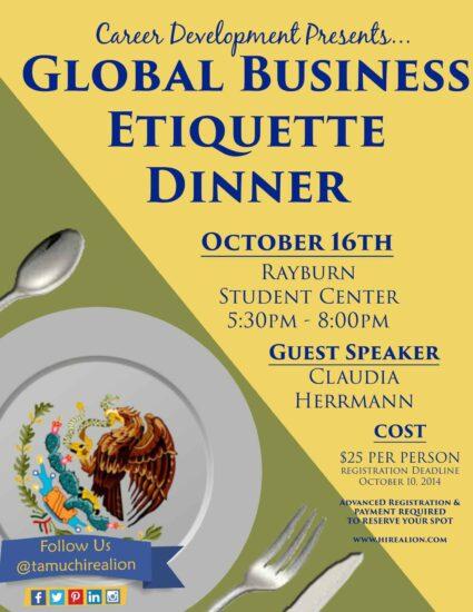 Global Business Etiquette Dinner