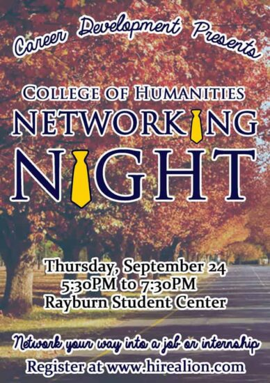HumanitiesNetworkingNightFall2015