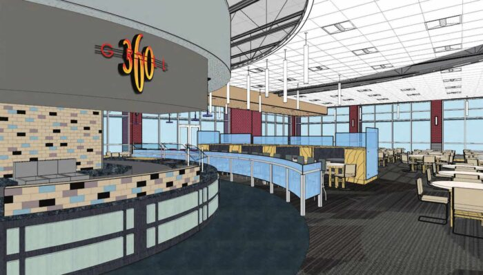 Cafeteria animation inside