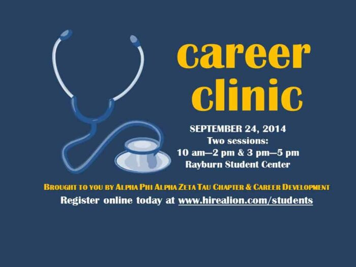 career clinic banner print