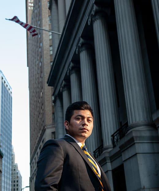 Eddie Arciga, A&M'16 on Wall Street in New York City