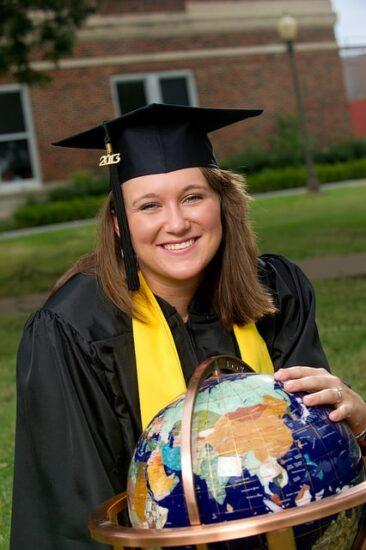 Elizabeth shaw holding Wanrane World Globe