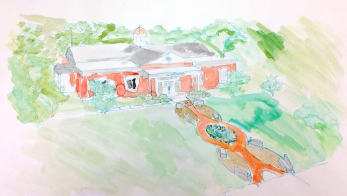 Alumni center building drawing
