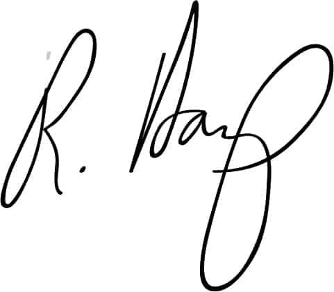 Dean Harp's signature