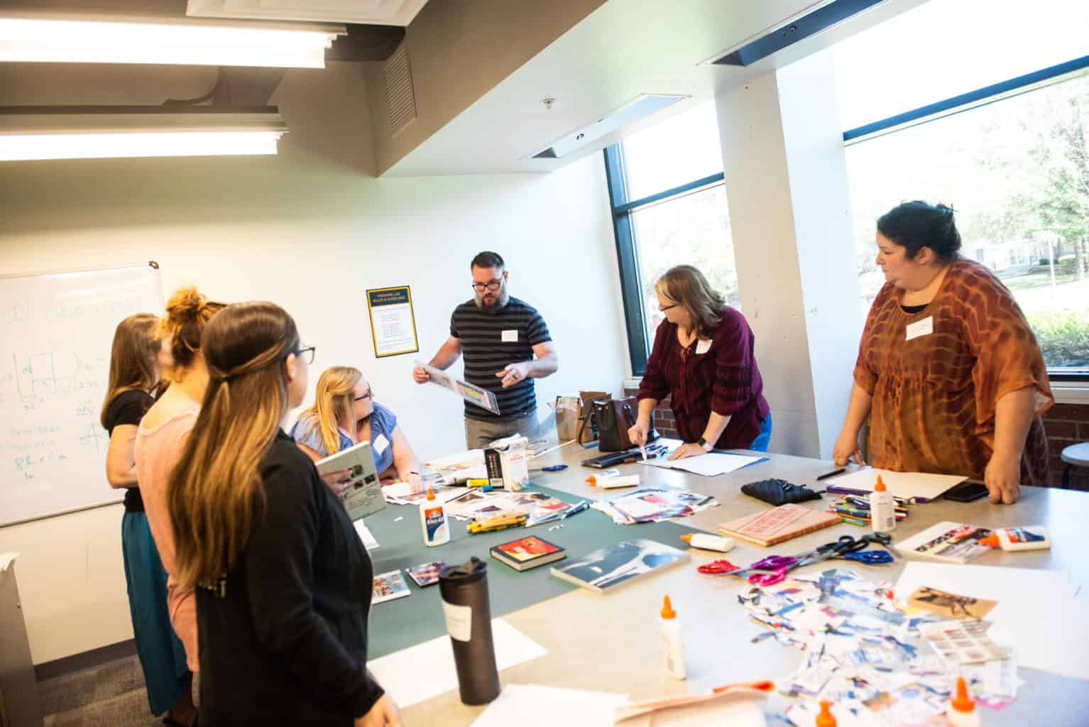 Art educator workshop.