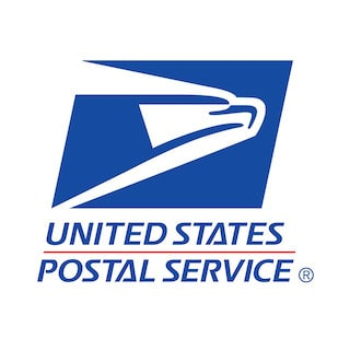 United States Postal Services logo.