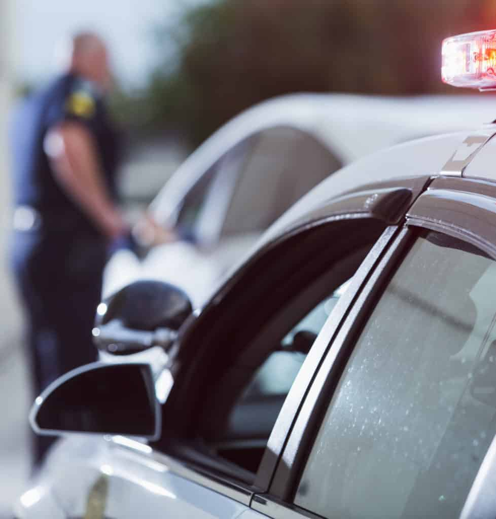 Police officer pulled over driver for traffic violation