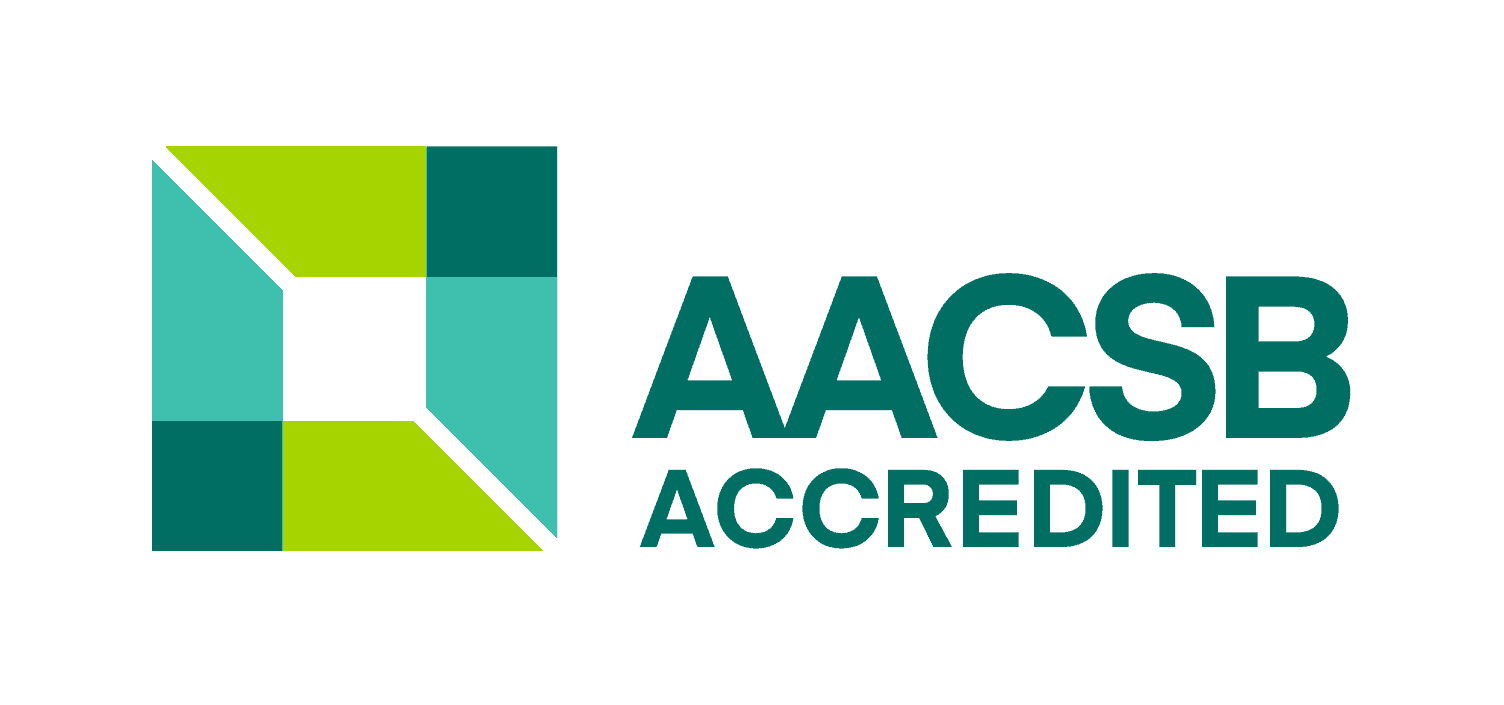 Association to Advance Collegiate Schools of Business (AACSB) logo.