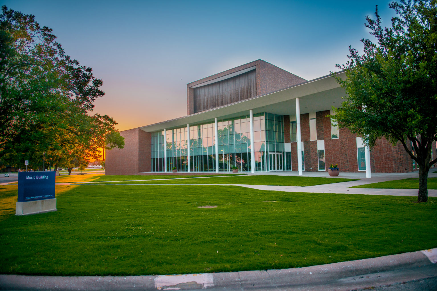 Music Building on Campus.