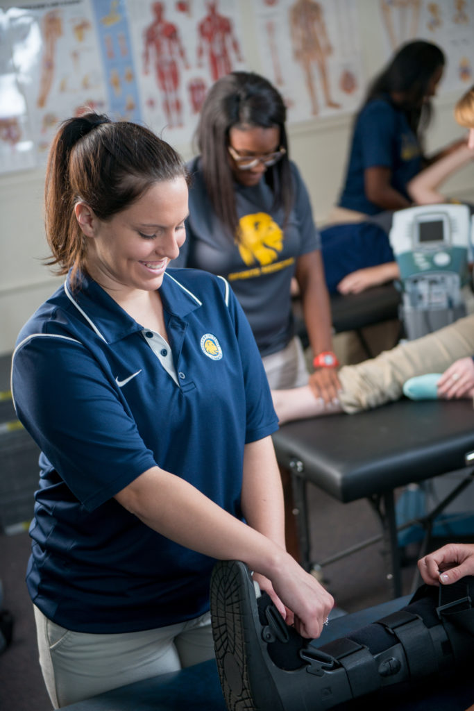 Exercise Science student during a practical course.