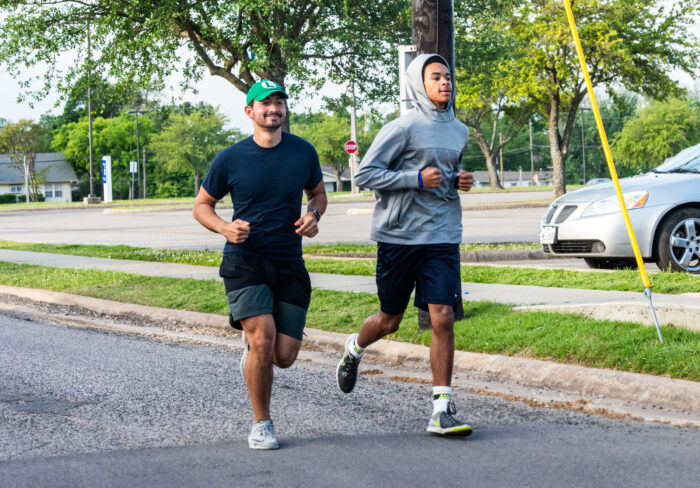 Two men running at Dan Jones 5k and fun run