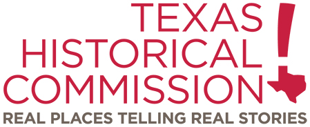 Texas Historical Commission logo.