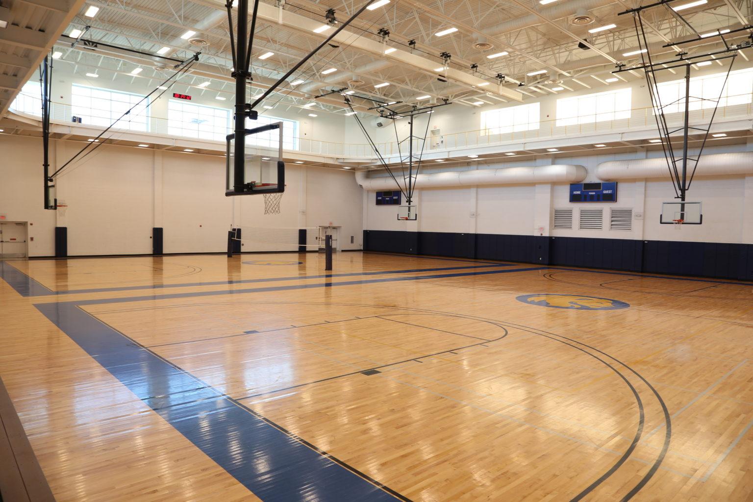 Morris Recreation Center's basketball court.