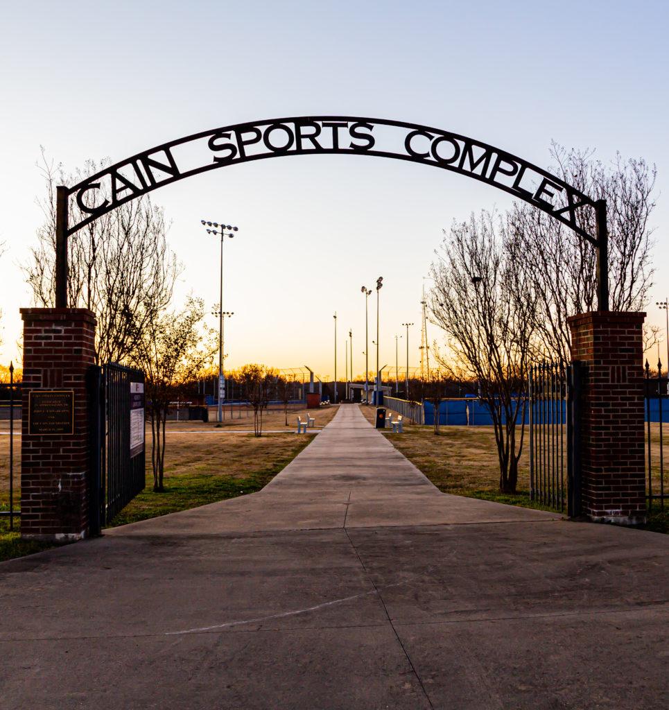 Cain Sports Complex entrance.