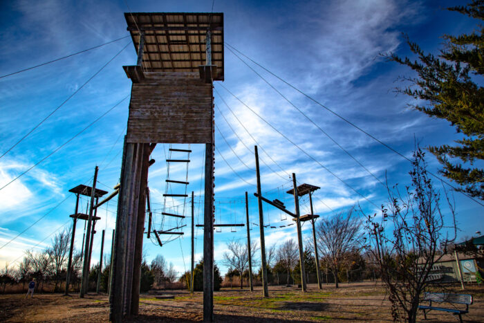 Challenge Ropes Course at the Outdoor Advanture.