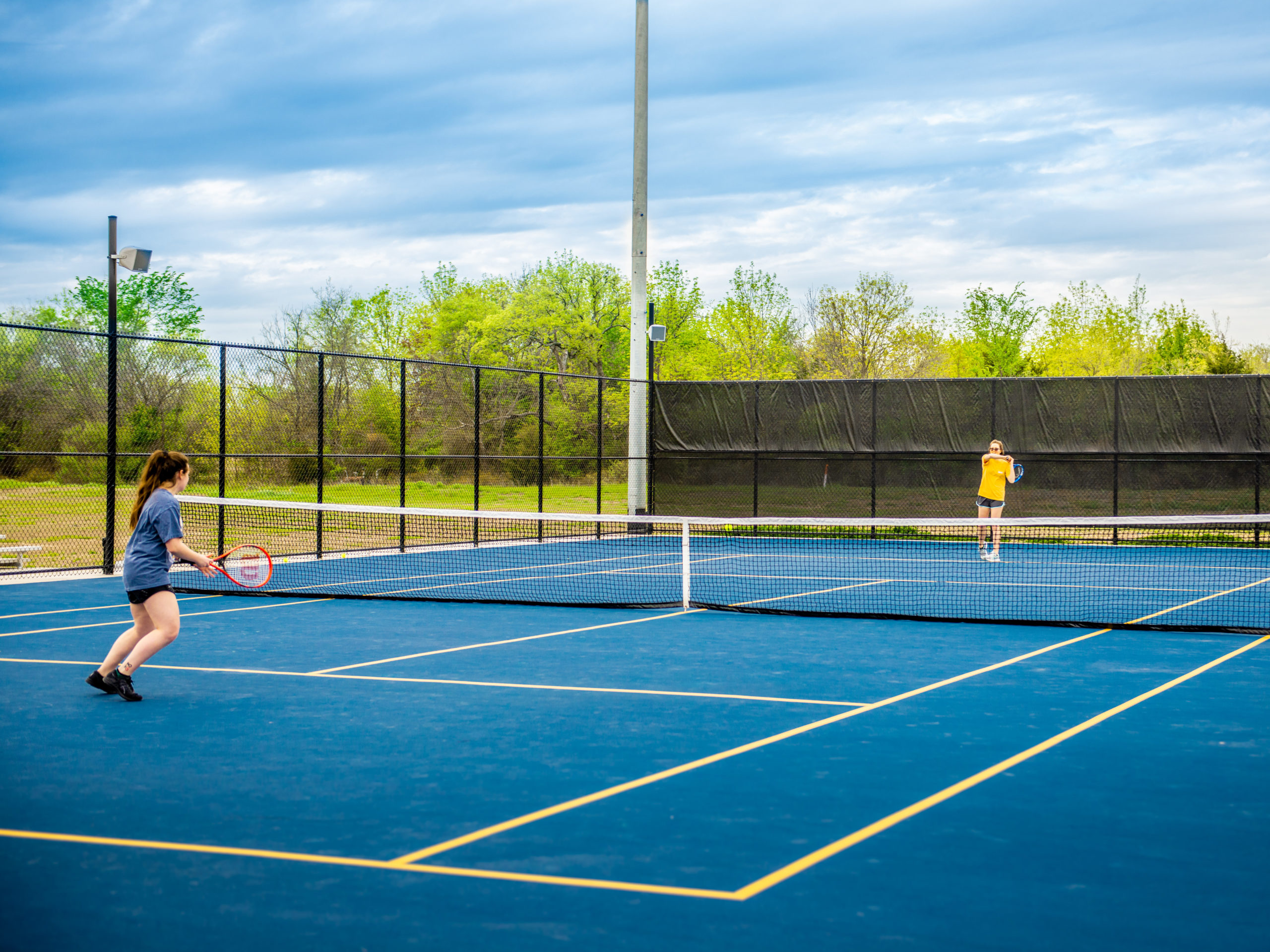 Tennis Courts at the Cain Sports Complex.
