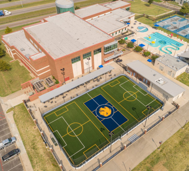 Air view of the Morris Recreation Center.