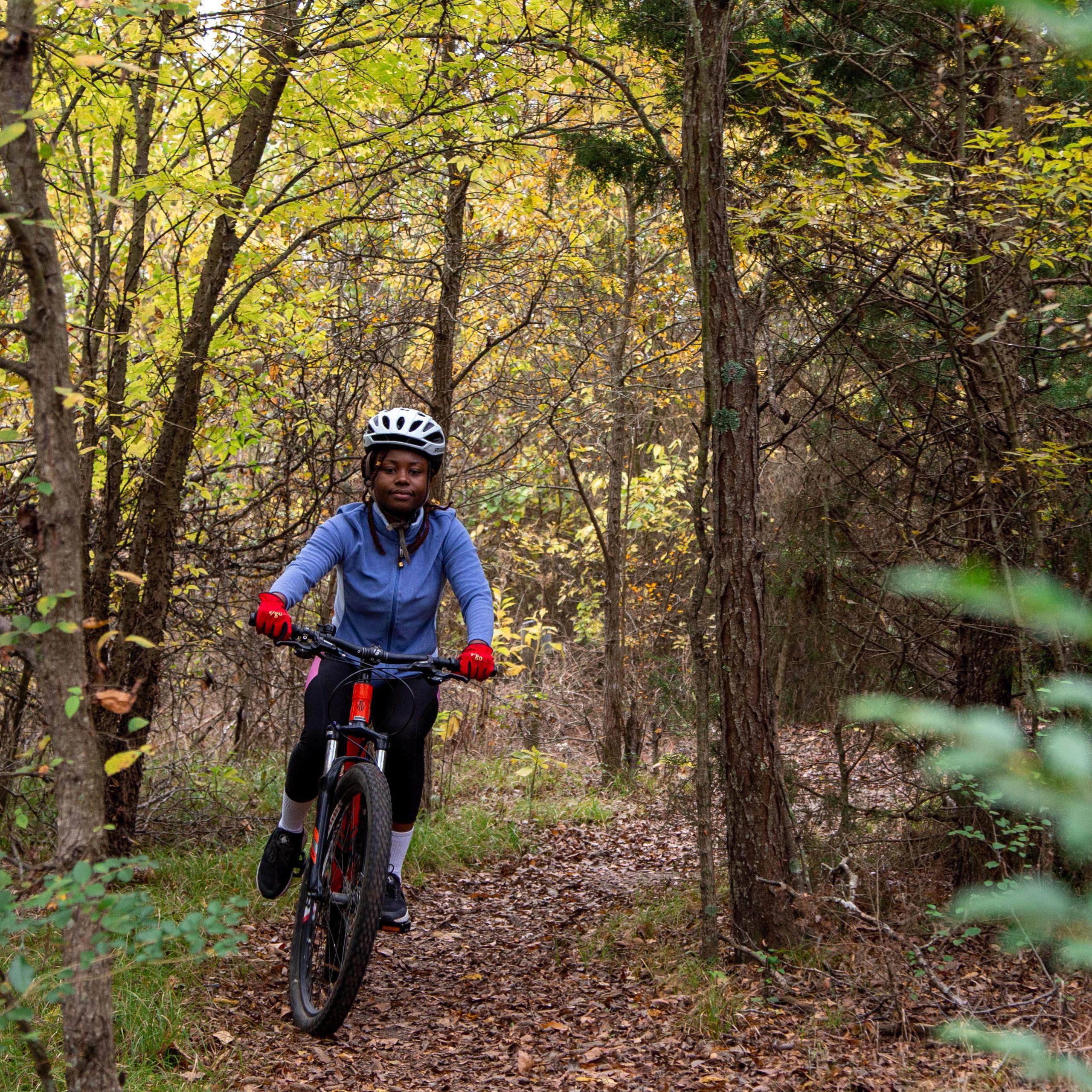 Student bike on the TAMUc bike trail.
