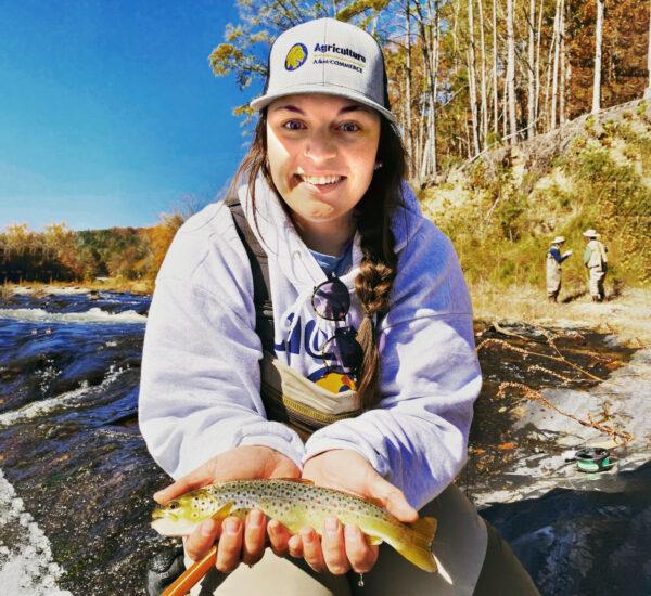 Haley Cole fishing.