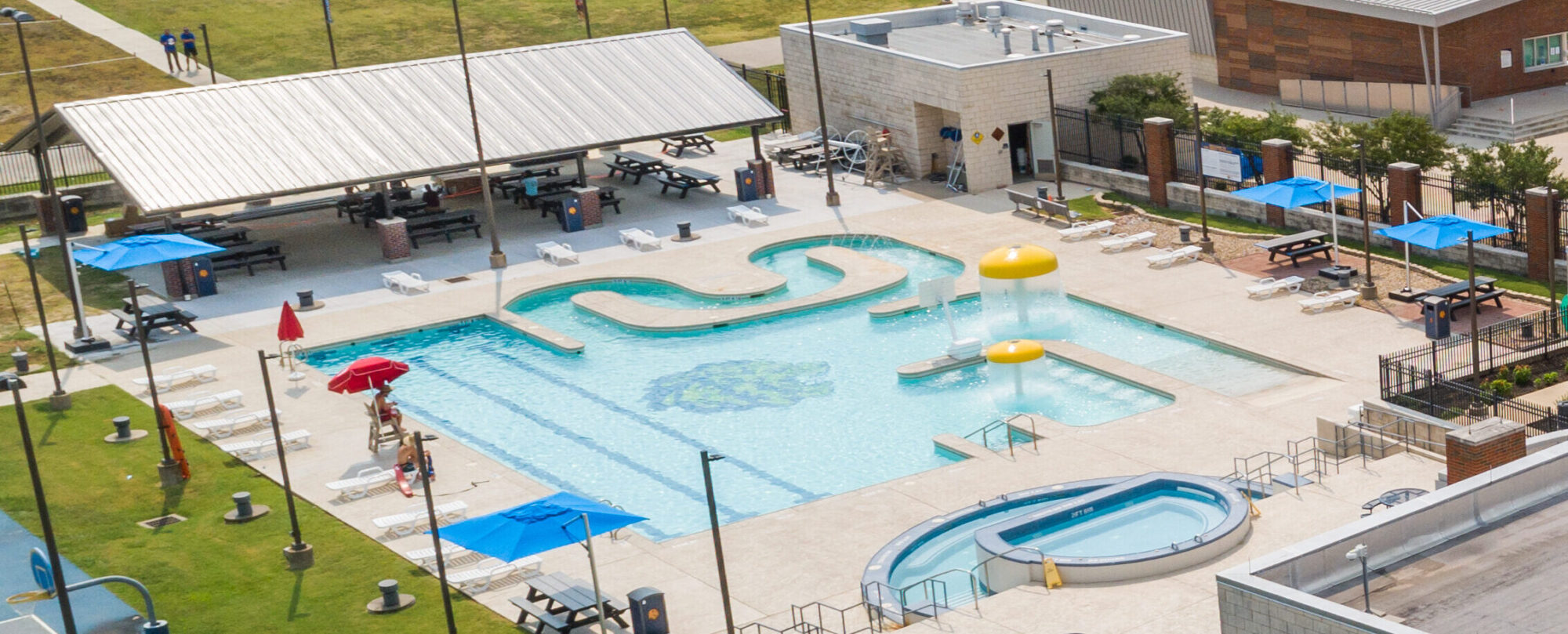 Pool area from the Morris Rec Center.