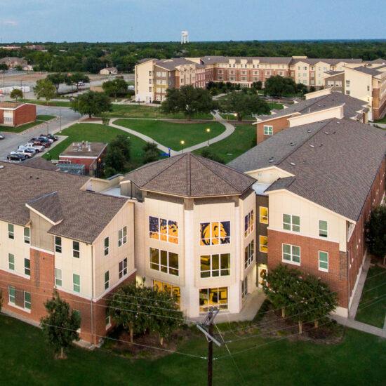 Dorms on the TAMUC campus.