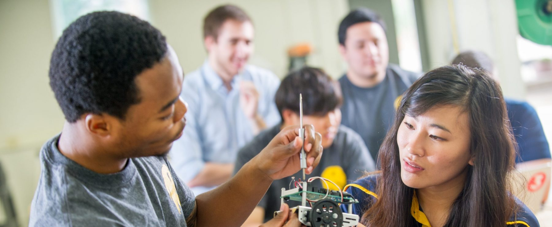 Electrical engineering students