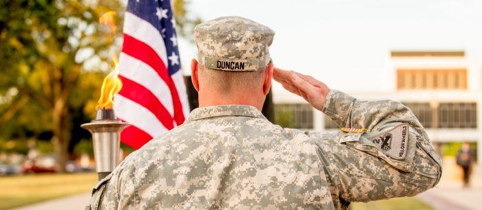 Previous veterans vigil flame lighting